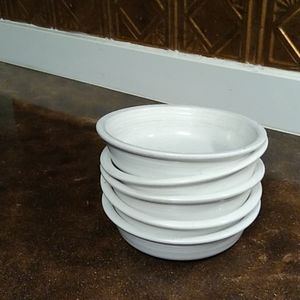 Fiesta Ware White Cereal Bowls
